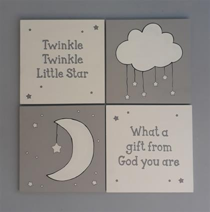 Twinkle Little Star Canvas Set