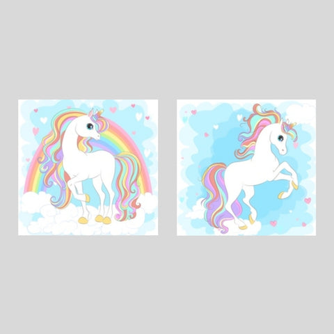 Unicorns Printed Canvas Set