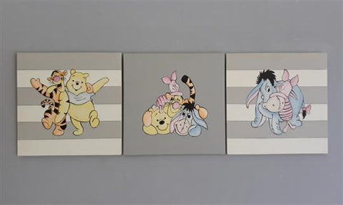 Winnie and Friends Canvas Set