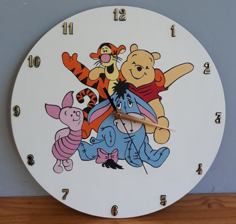 Winnie the Pooh and Friends Wooden Clock