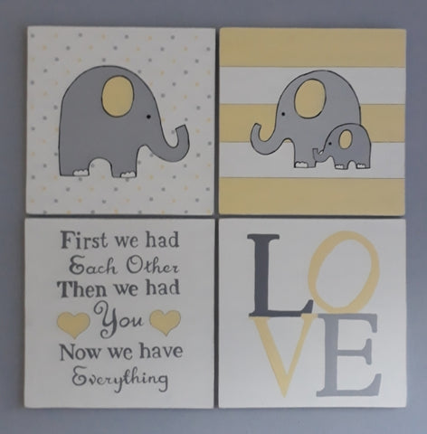 Yellow Love Canvas Set