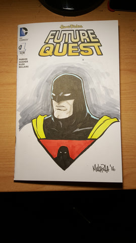 Future Quest #1 blank cover sketch (Space Ghost & Birdman)