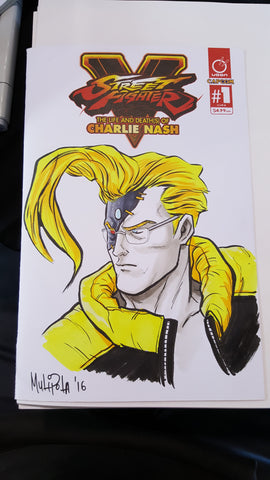 Charlie Nash blank cover sketch