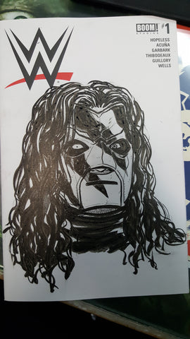 WWE blank cover commission sketch