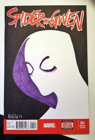 Spider-Gwen #1 blank cover sketch