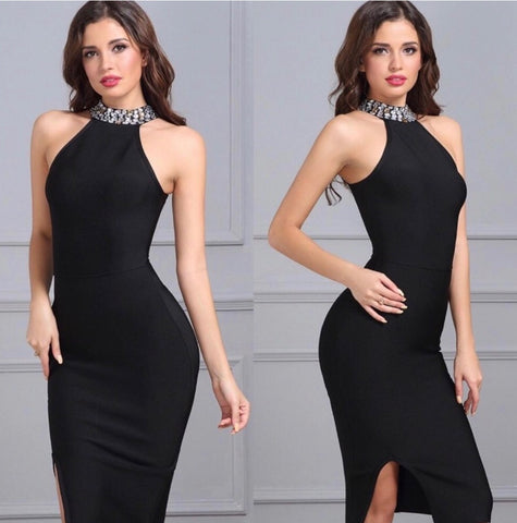 Adyce 2018 New Women Bandage Dress Luxury Celebrity Evening Party Dresses