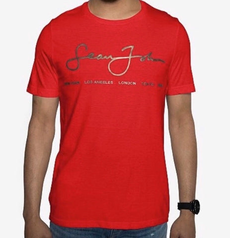 Sean John  Men's Signature Script T-Shirt