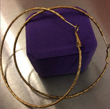 18k Over Brass XL Basketball Ball Hoops
