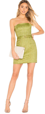 Marrakesh Top Suri Mini Skirt in Pear Green