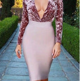 Ladies VIP Pencil Bodycon Bandage(Pinkish Tan)
