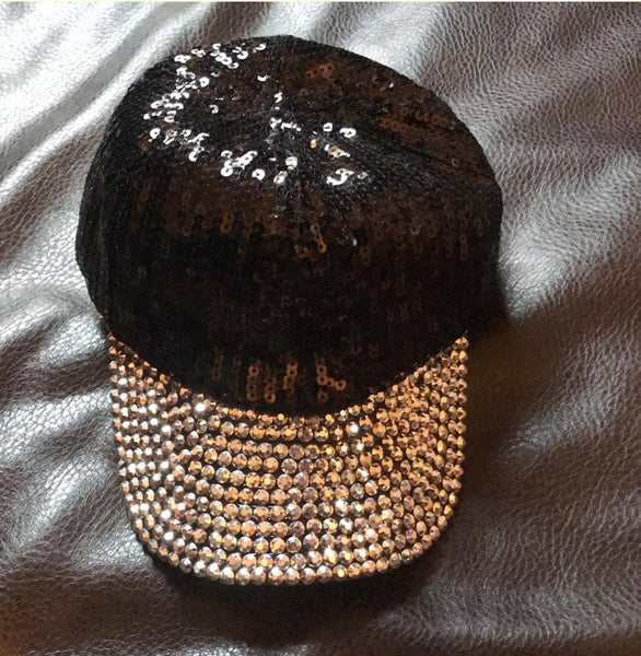 Queen Hip Hop Sexy Sequin With Rhinestone Hat/ Cap
