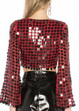All over sequin embellishment Short Top