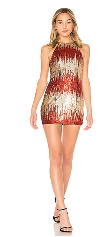 Its Lit Sequin Throughout Short Length Dress