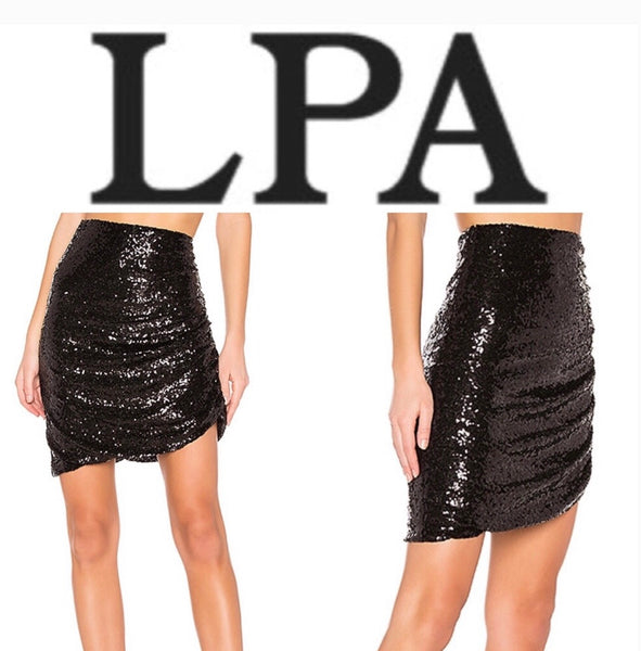 Allover sequin embellishments Skirt