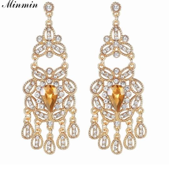 Ladies Sparking Crystal Chandeleir Earrings
