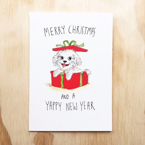 Merry Christmas and a Yappy New Year - Well Drawn