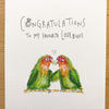 Congratulations To My Two Favourite Lovebirds - Well Drawn