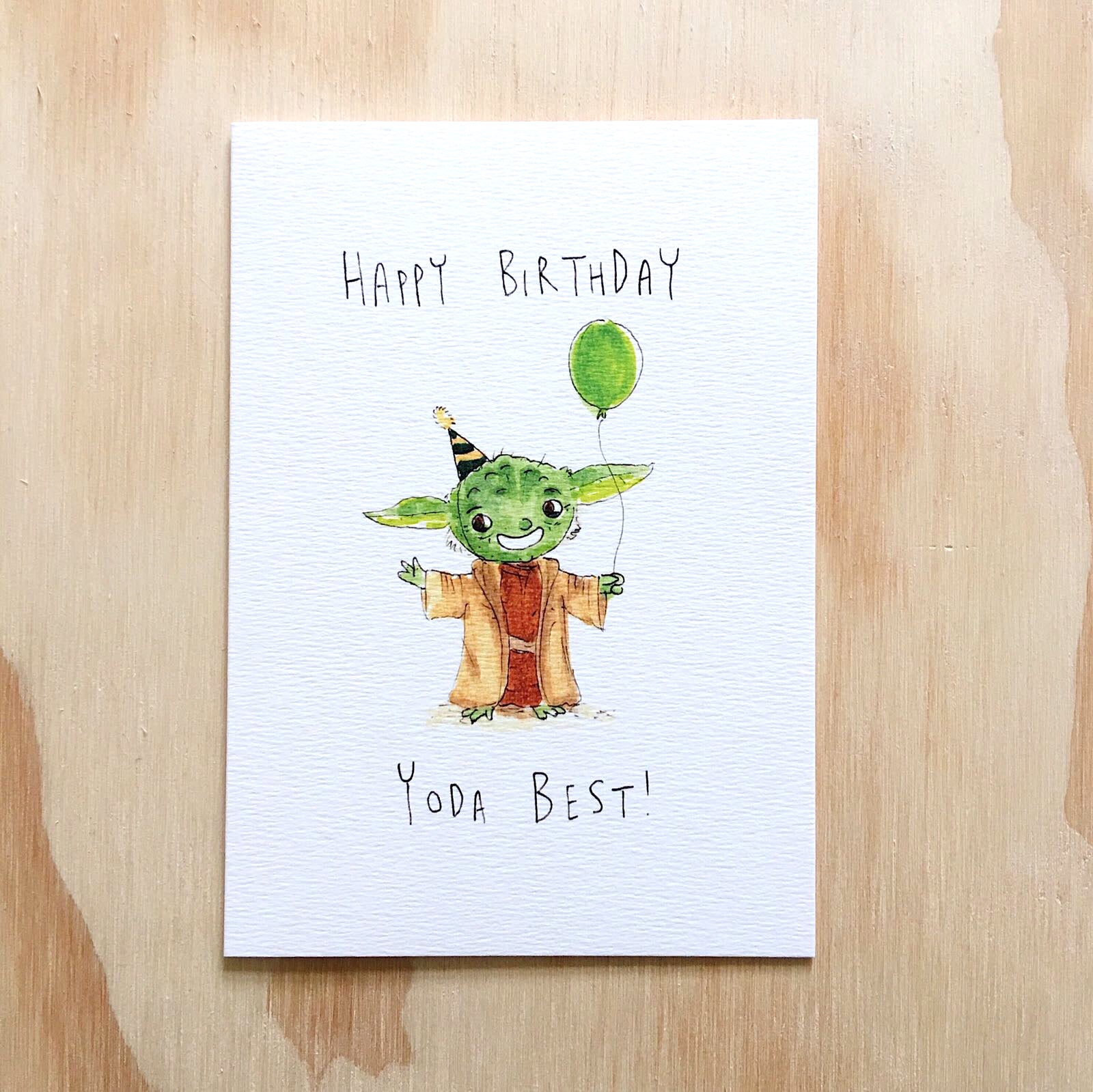 Happy Birthday, Yoda Best! - Well Drawn