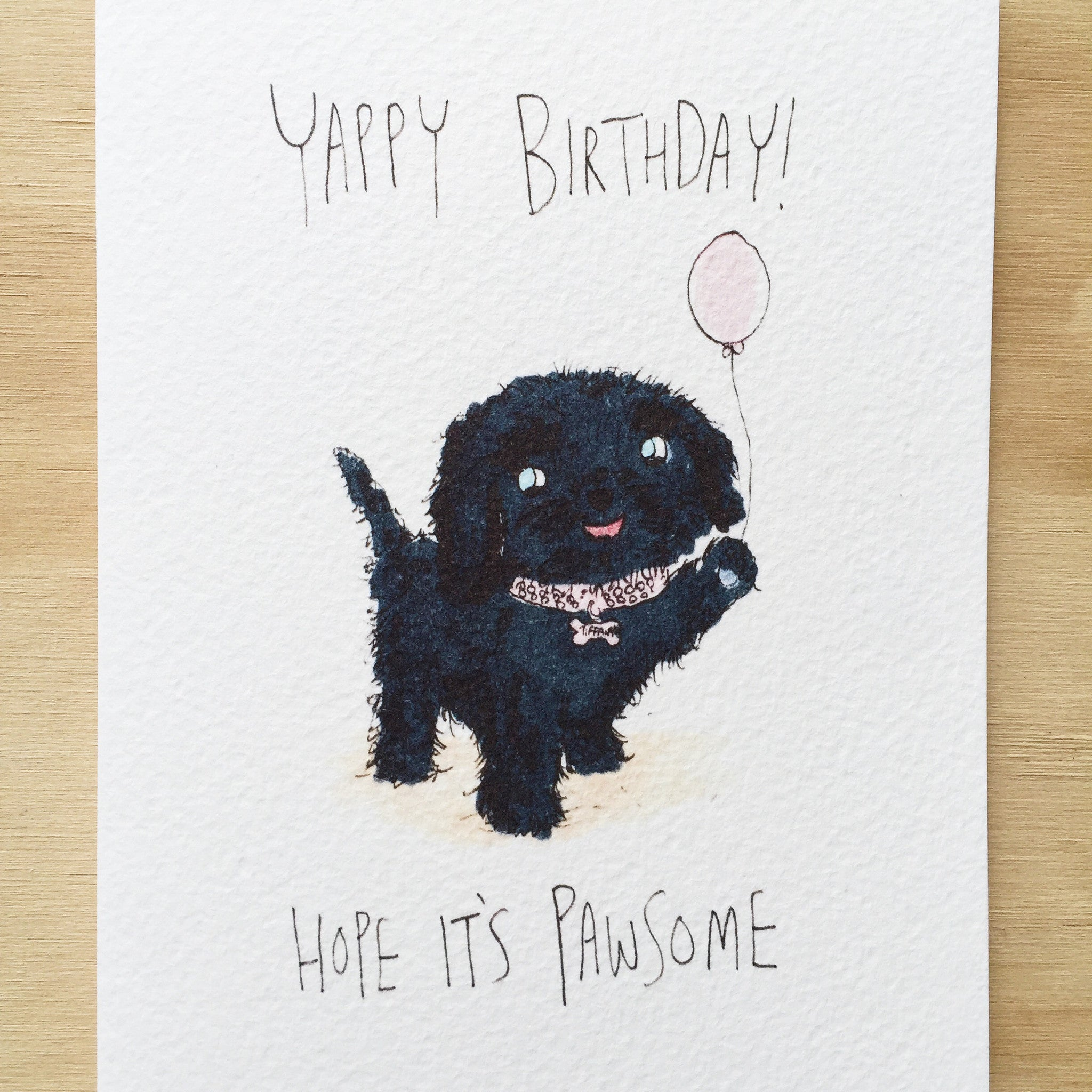 Yappy Birthday, Hope it's Pawsome - Well Drawn