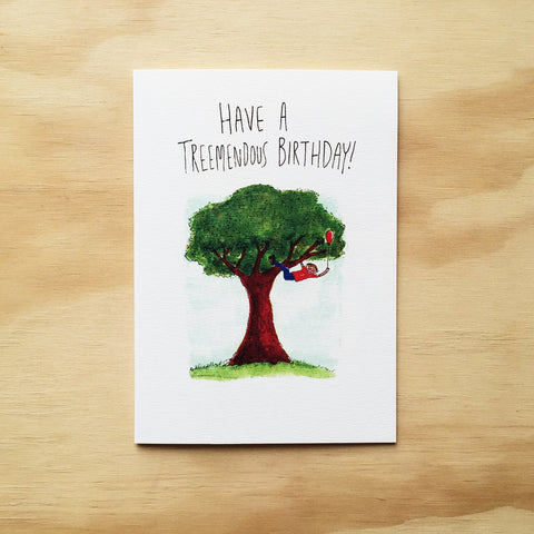 Have a Treemendous Birthday - Well Drawn