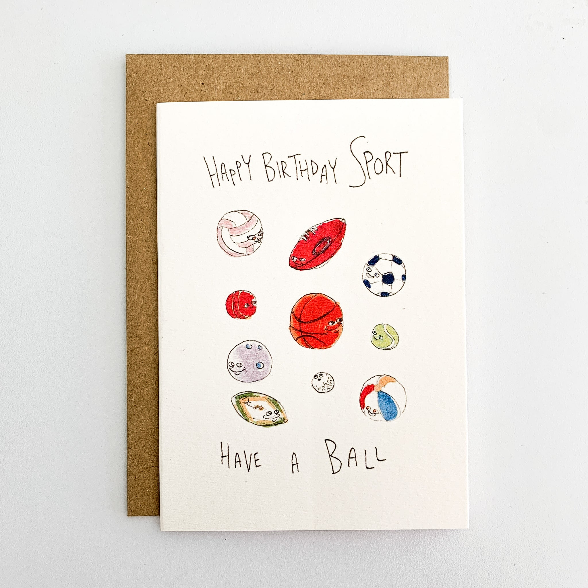 Happy Birthday Sport, Have A Ball - Well Drawn
