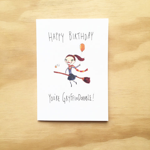 Happy Birthday, You're Gryffindorable - Well Drawn