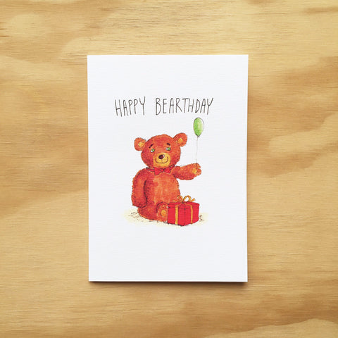 Happy Bearthday - Well Drawn