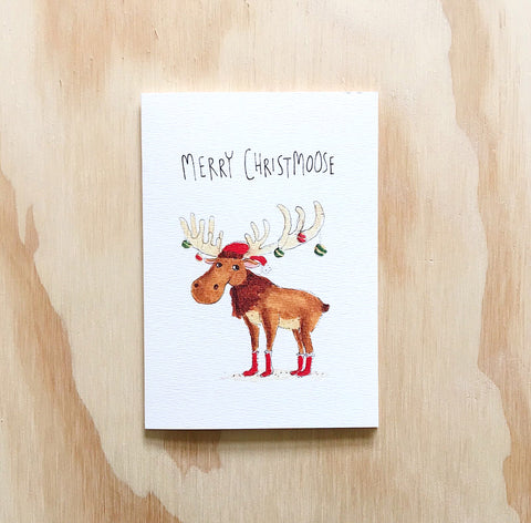 Merry Christmoose - Well Drawn