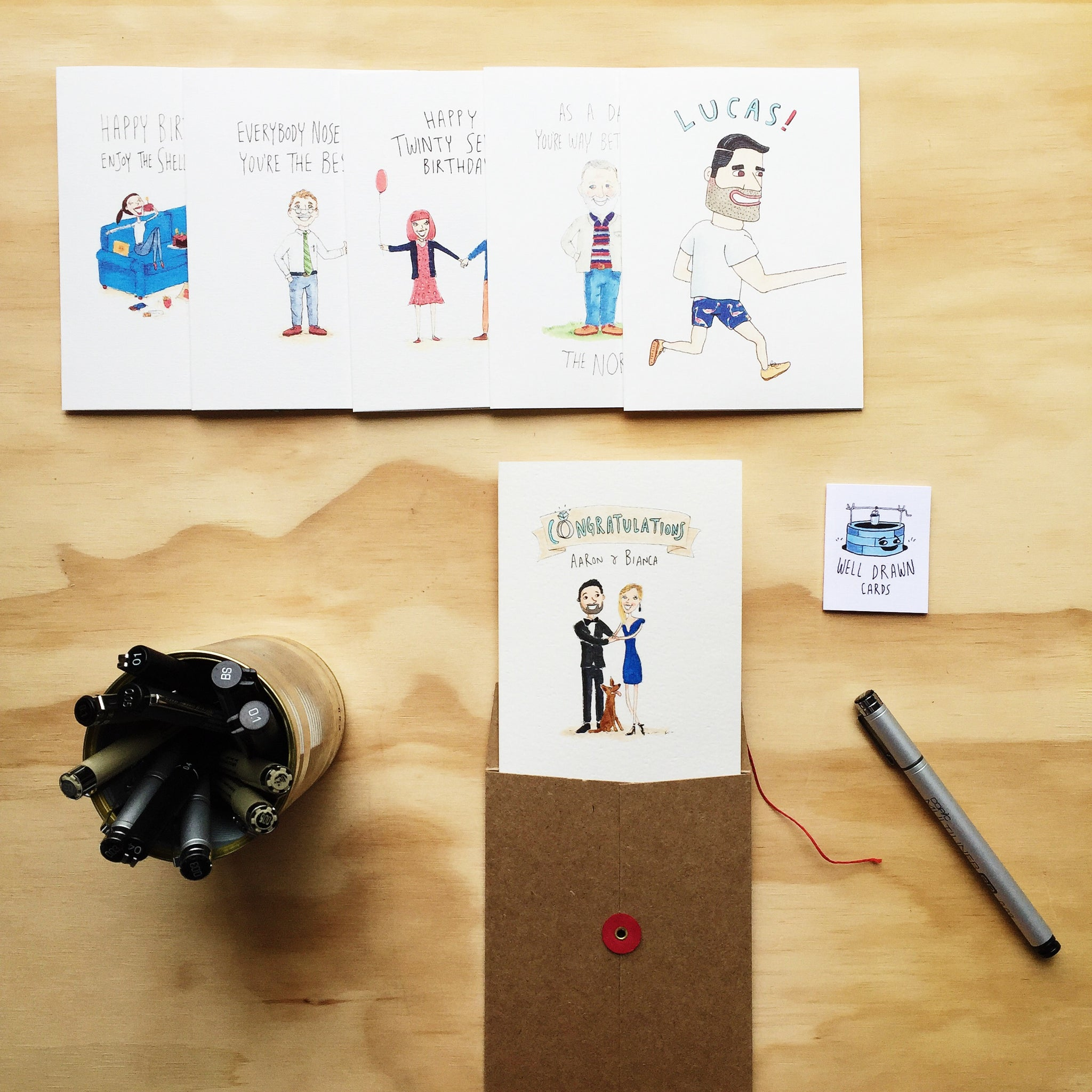 Wholesale and Stockist - Sample Kit (FREE only to potential stockists) - Well Drawn