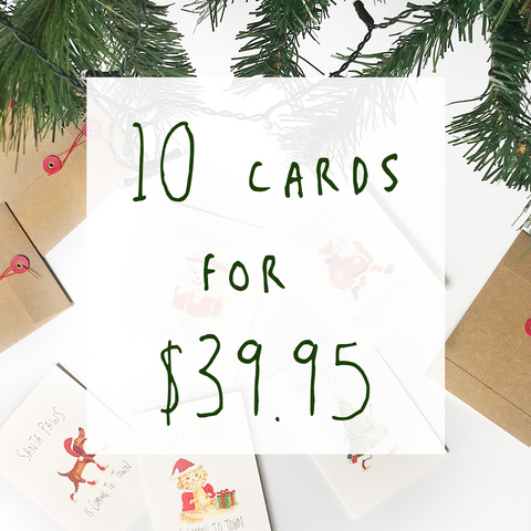 Christmas Bundle - 10 pack - Well Drawn