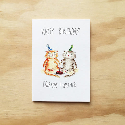 Happy Birthday, Friends Furever - Well Drawn