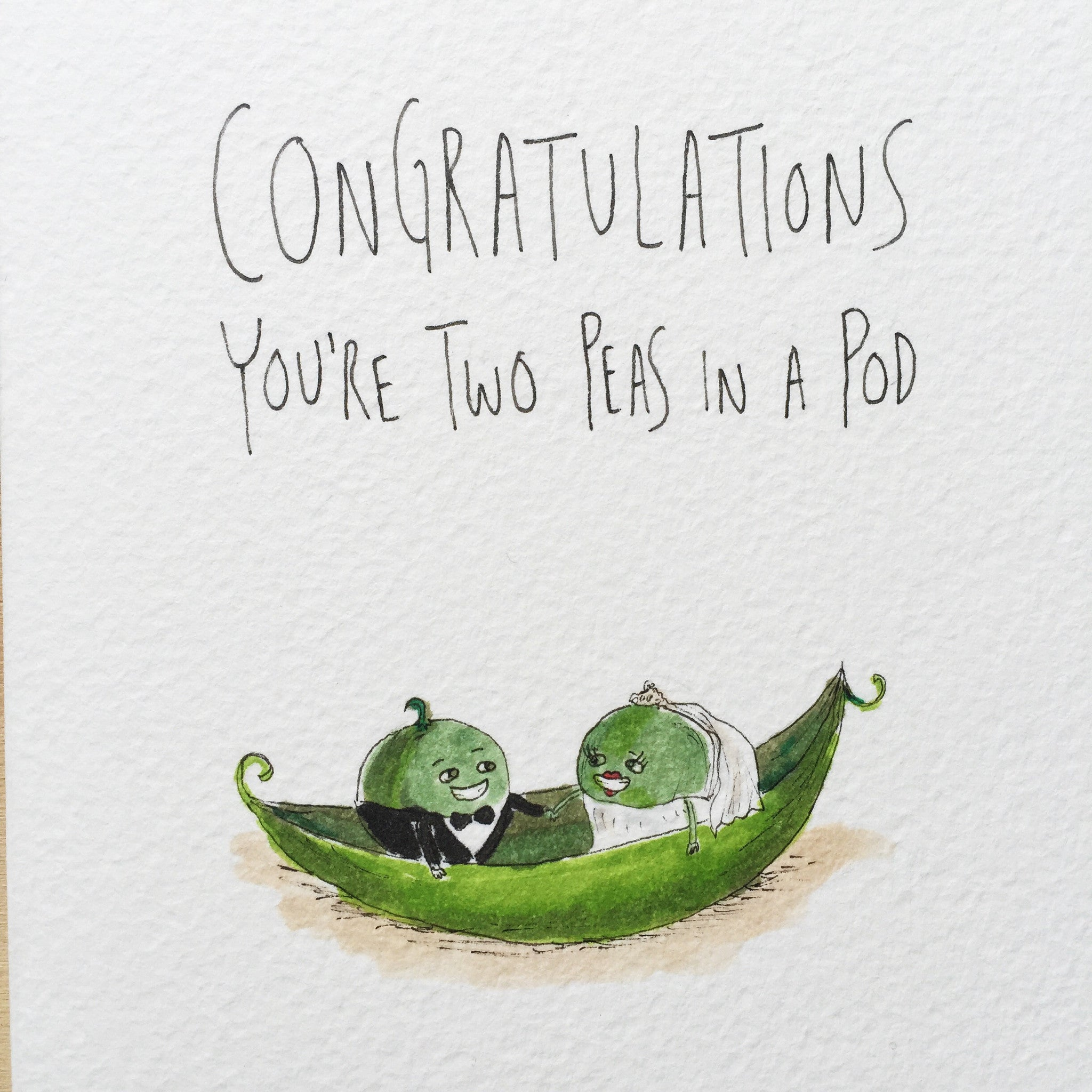 Congratulations You're Two Peas In a Pod - Well Drawn