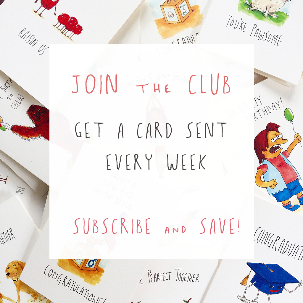 Well Subscribed - One card a week, month or quarter - Well Drawn