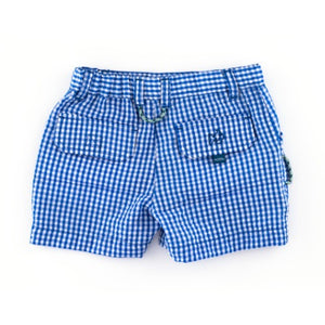 Mini Gingham Seersucker Shorts