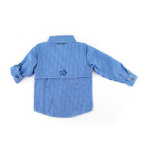 Seersucker Fishing Shirt in Mini