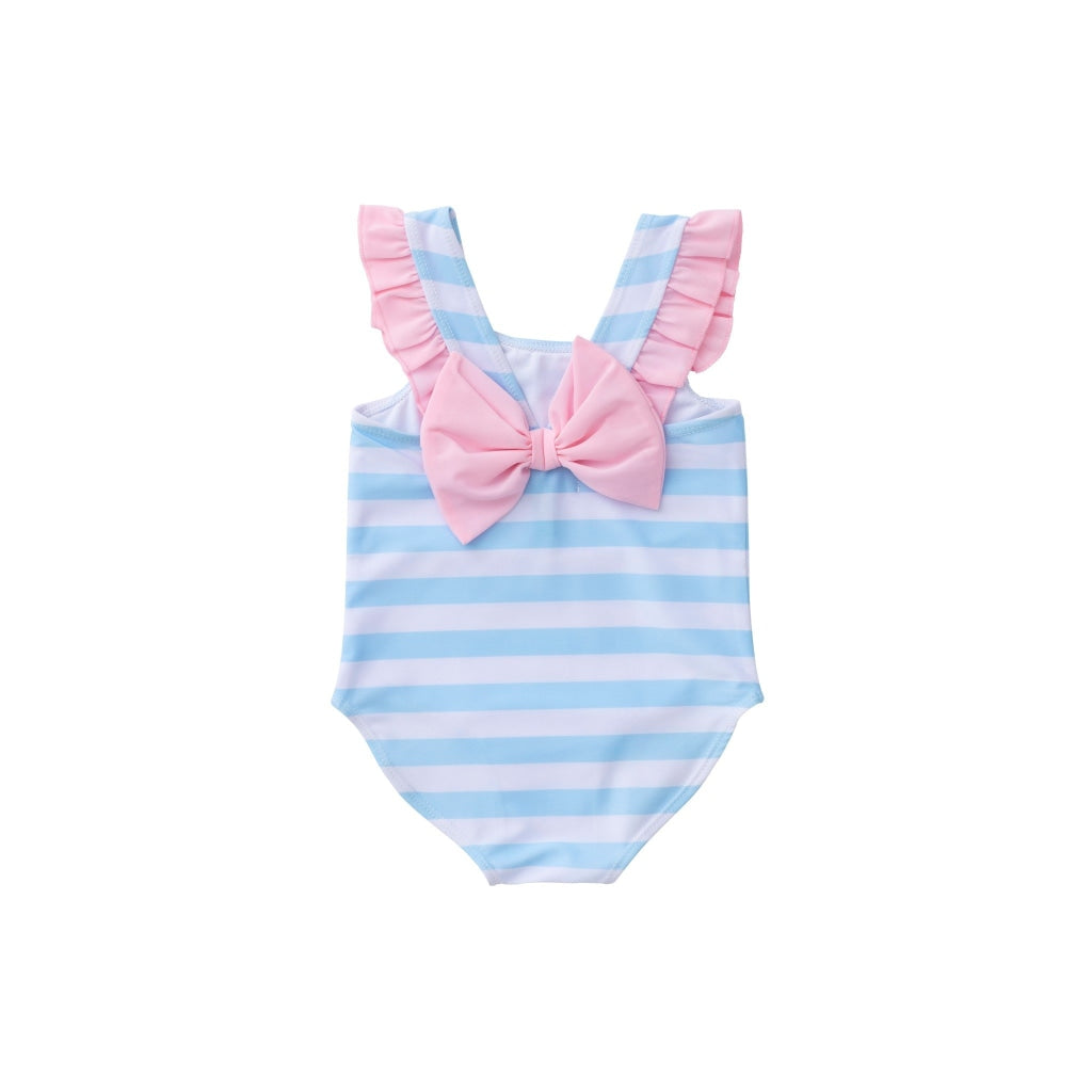 Bow Back Swimsuit In Arctic Stripe Swimwear