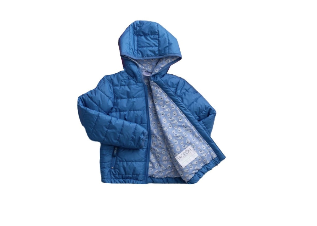 Boys Hooded Puffer Jacket/oyster Print Liner Diving Hole / 6 Month Outerwear
