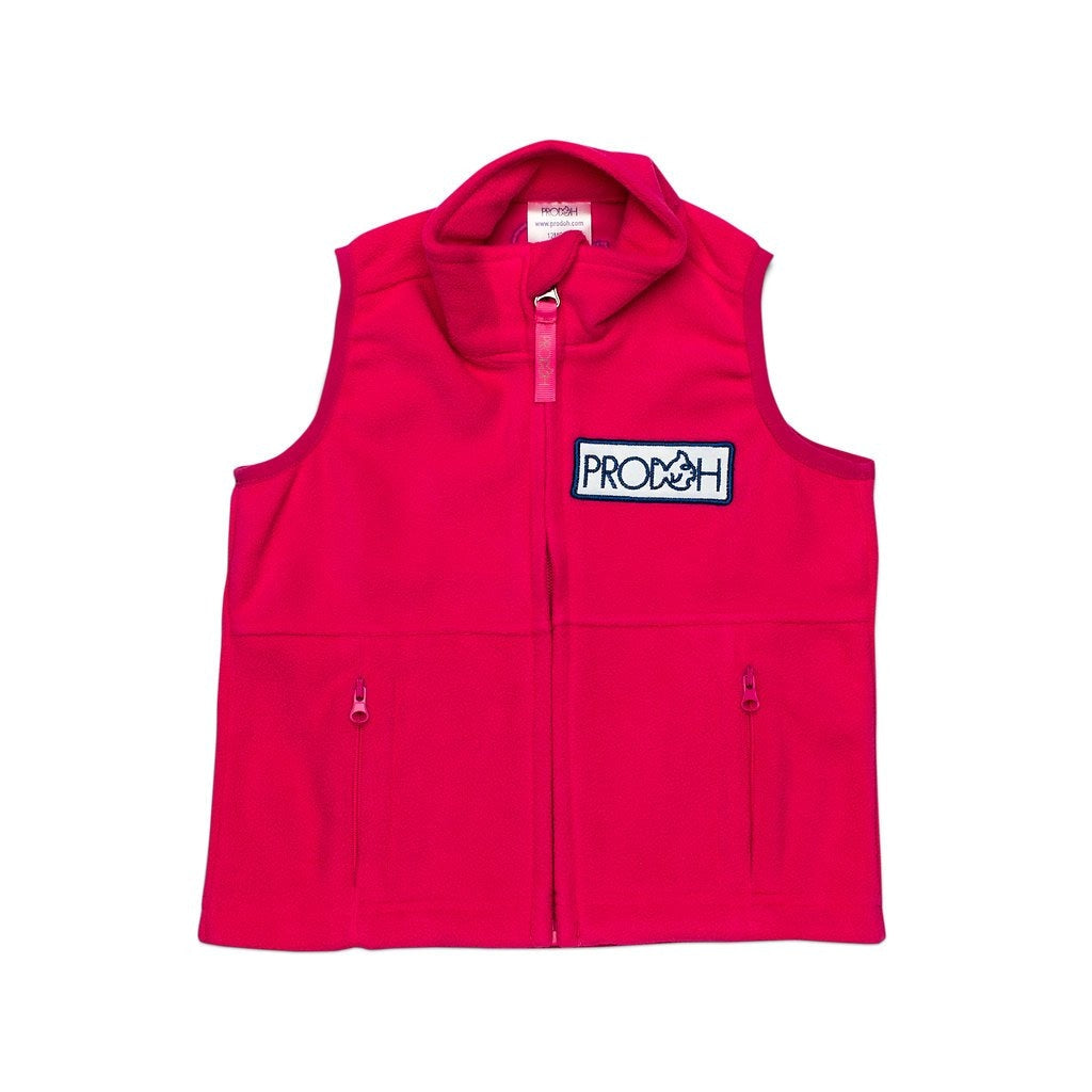 Fleece Vest In Pink / 12 Month Outerwear