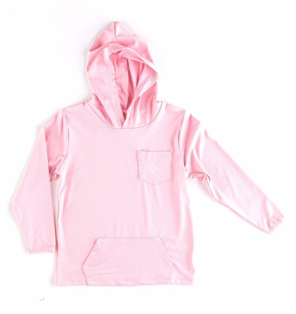 Hook Line & Pink Sneakers Hooded Performance Tee - Prodoh Ecommerce