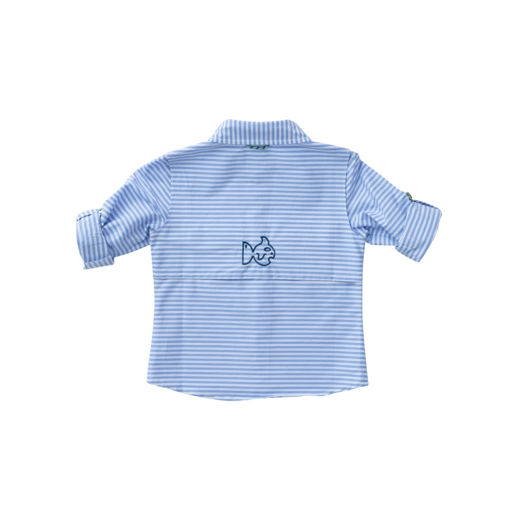 Striped Fishing Shirt In Blue Light Shirts