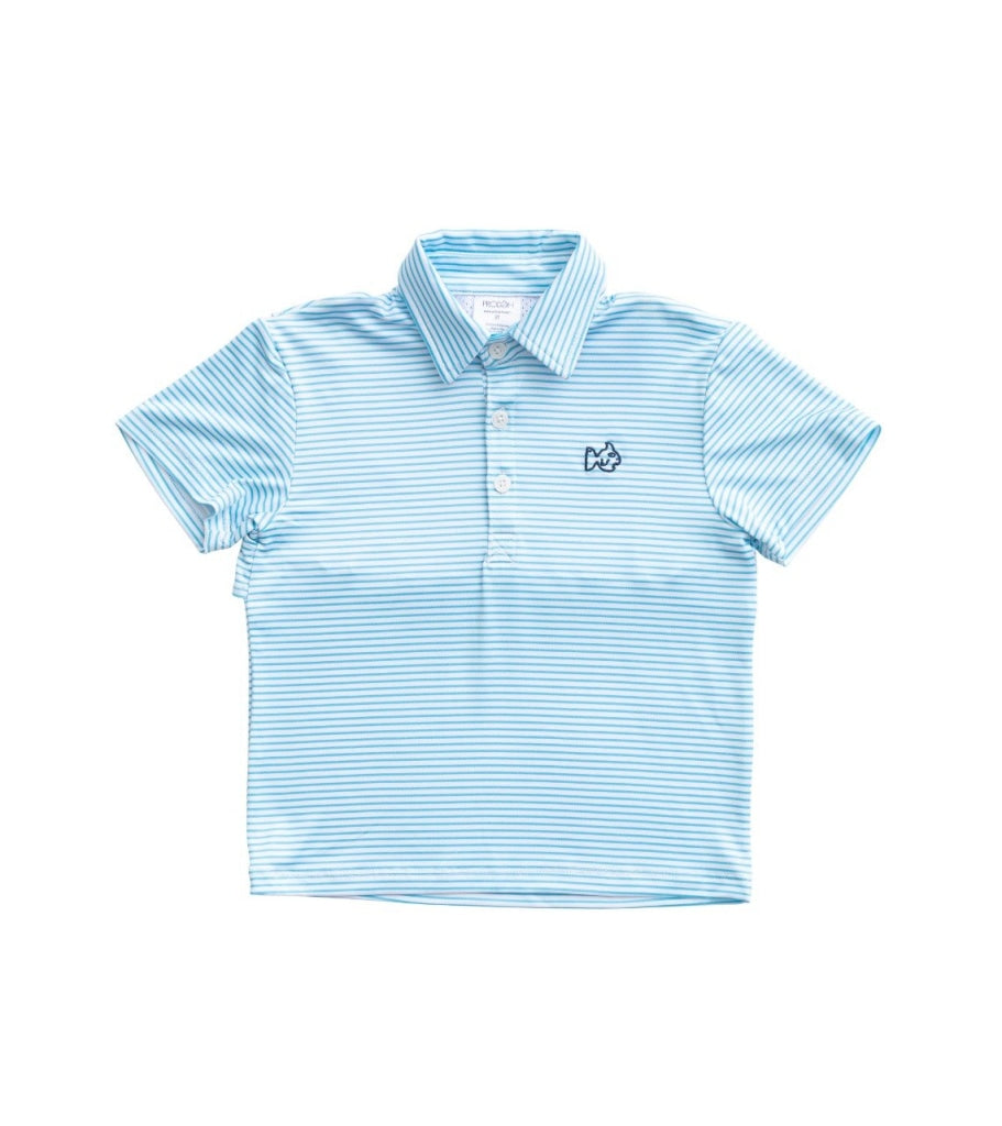 Vented Back Performance Polo Aquarius / 6 Month
