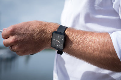 NEW! ROYAL 38 MM - Black (silicon strap) - 10
