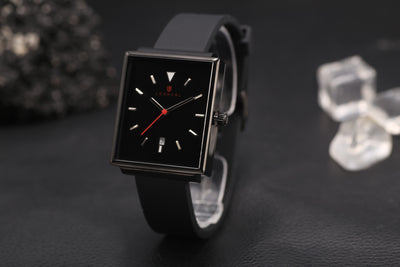 NEW! ROYAL 38 MM - Black (silicon strap) - 6