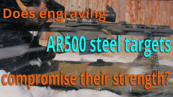 Do engraved vitals compromise the integrity of an AR500 steel target?