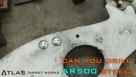 Hole drilled in AR500 steel target