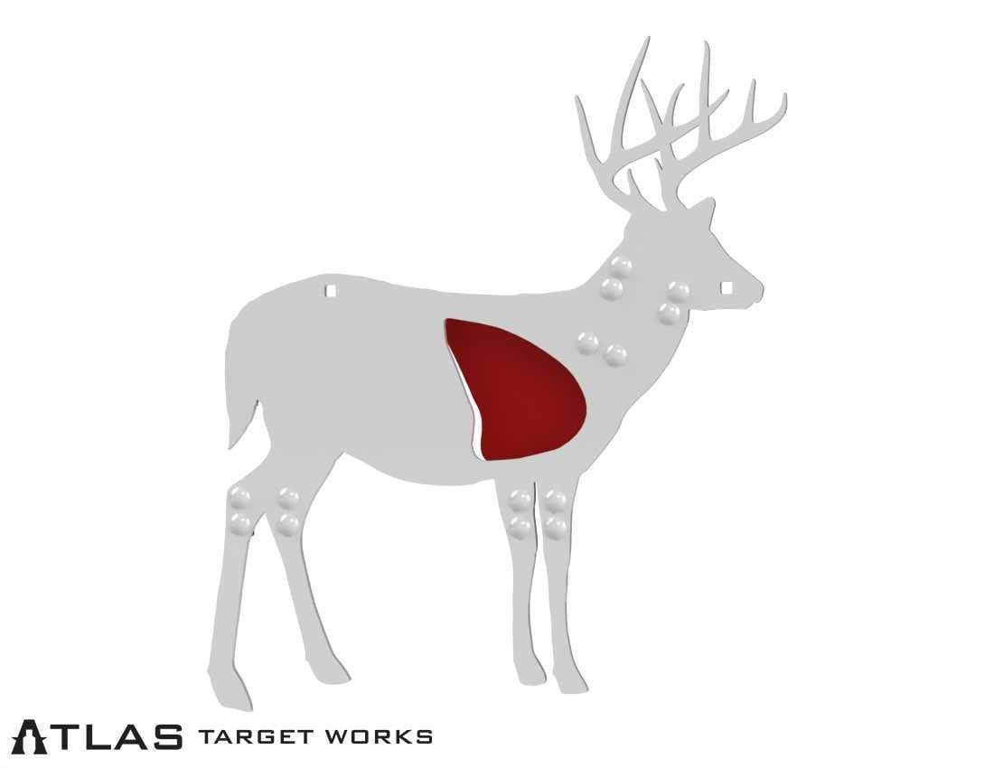 Half Scale AR500 Whitetail Buck Target with legs