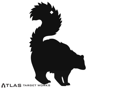 AR500 Steel Skunk Target with tail in the air