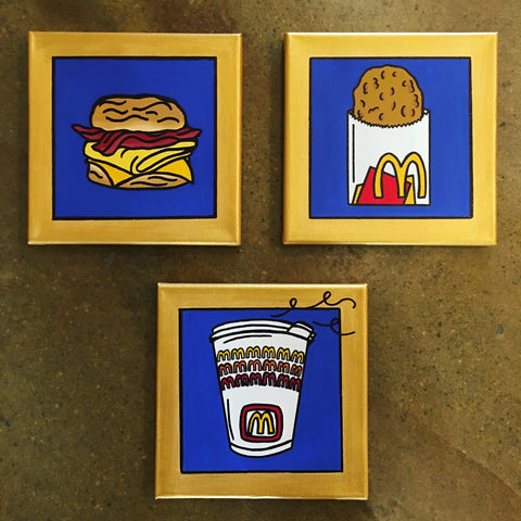 "Original art ""McDonald's Breakfast Collection"" paintings"