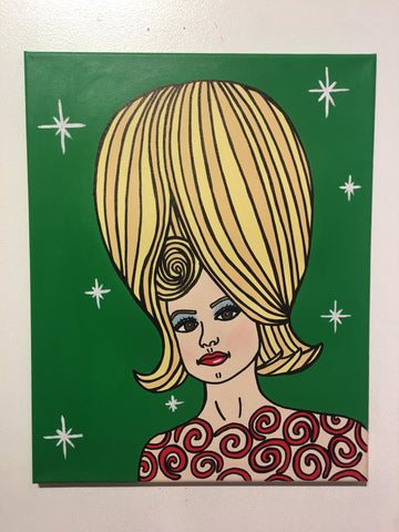 "Mars Attacks ""Martian Girl"" Original Painting"