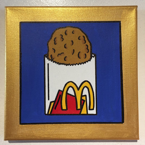 "Original art ""McDonald's Hash Brown"" painting"